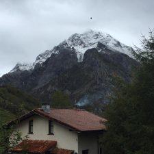 Las primeras nieves del otoño llegaban esta madrugada a Las Moñas de Sotres