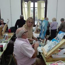 Comienza el sexto curso del Taller de Pintura que en Torre dirige Carlos Jiménez Escolano