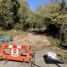 Buen ritmo de trabajo en las obras de reconstrucción del hundimiento de la AS-257 Colunga-Lastres