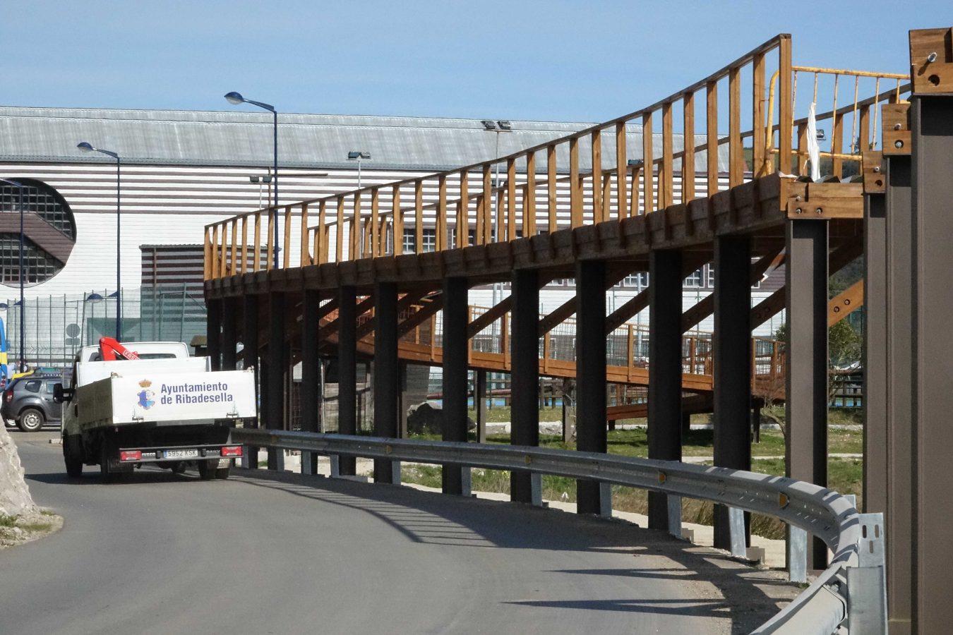 La pasarela elevada de Picu Ramonón se transformará en un mirador a la ría de Ribadesella