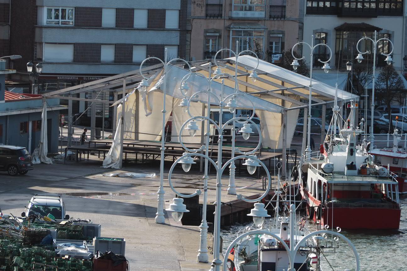 El fuerte viento causa 253 incidencias en Asturias, 56 de ellas en el oriente