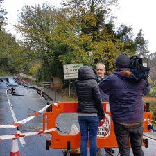 El PP pide la reparación inmediata del hundimiento aparecido en la AS-257, carretera que une Colunga con Lastres