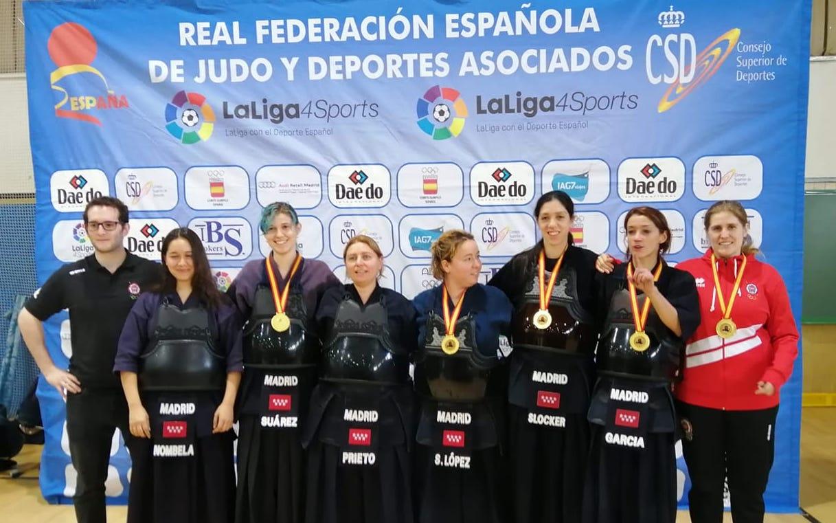 La riosellana Celia Suárez Bode, de nuevo Campeona de España por Equipos en Kendo