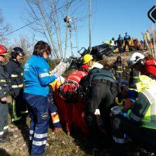 Dos heridos graves en otro accidente ferroviario ocurrido en un paso a nivel de Llanes