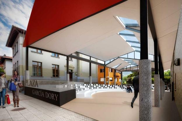 El Ayuntamiento de Parres invertirá 400.000 euros de su remanente para, entre otras cosas, remodelar la Plaza García Dory de Arriondas