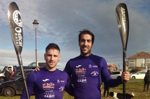 Busto y Geringer repiten victoria en el Campeonato de Asturias de Piragua-Cross
