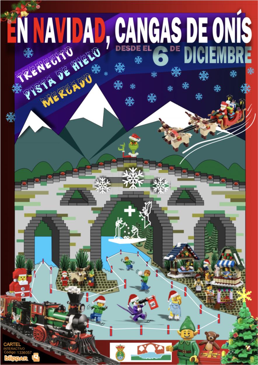 Un tren mágico llamado Cangas Express recorrerá la ciudad de Cangas de Onís esta Navidad