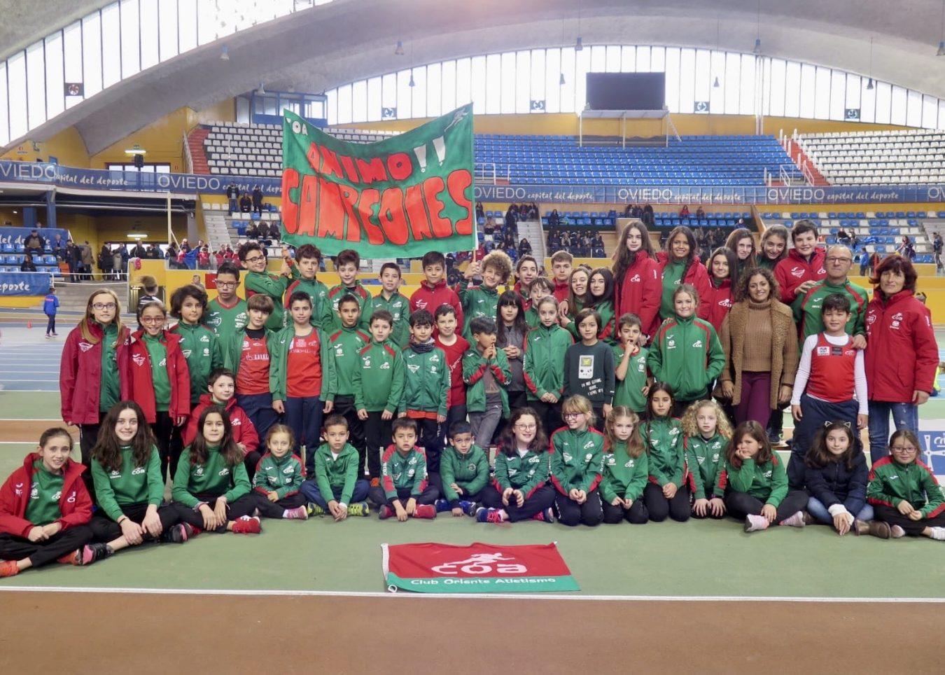 Tres medallas para la Escuela del Club Oriente Atletismo en el trofeo interescuelas