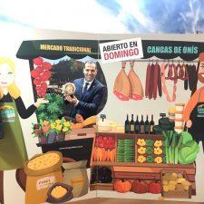 Cangas de Onís lleva su mercado dominical a Fitur