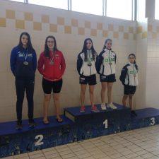 Dos medallas de plata para Ineke Ardines en los Campeonatos de Asturias de Invierno de natación