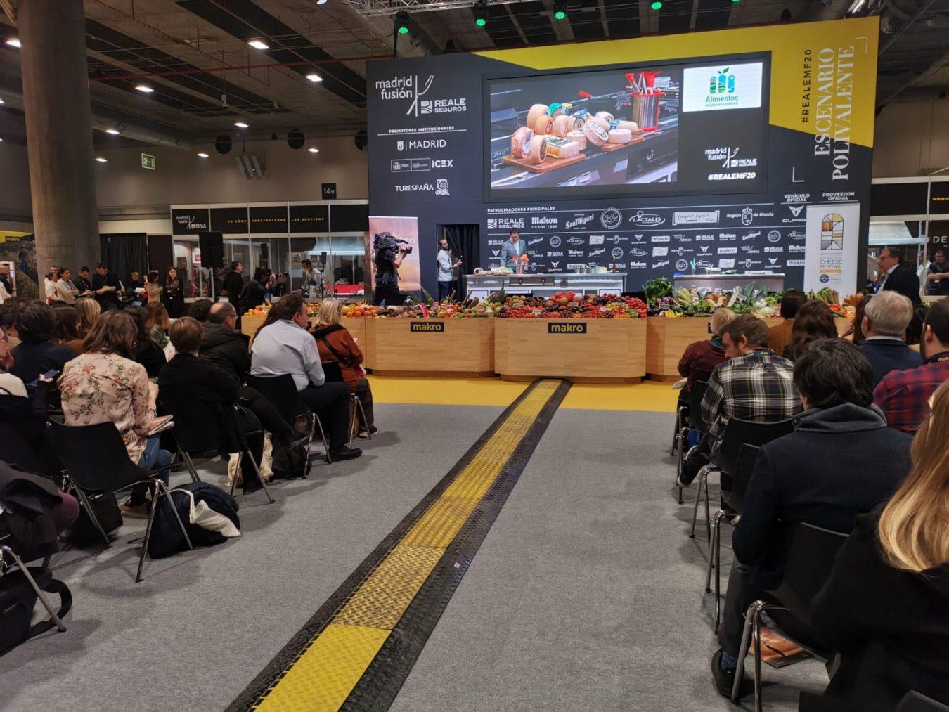 Los quesos del Paraíso Natural interpretados en Madrid Fusión por cuatro cocineros asturianos