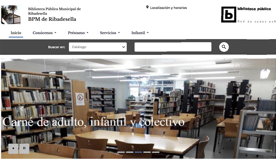 La Biblioteca de Ribadesella renueva su página web después de catorce años