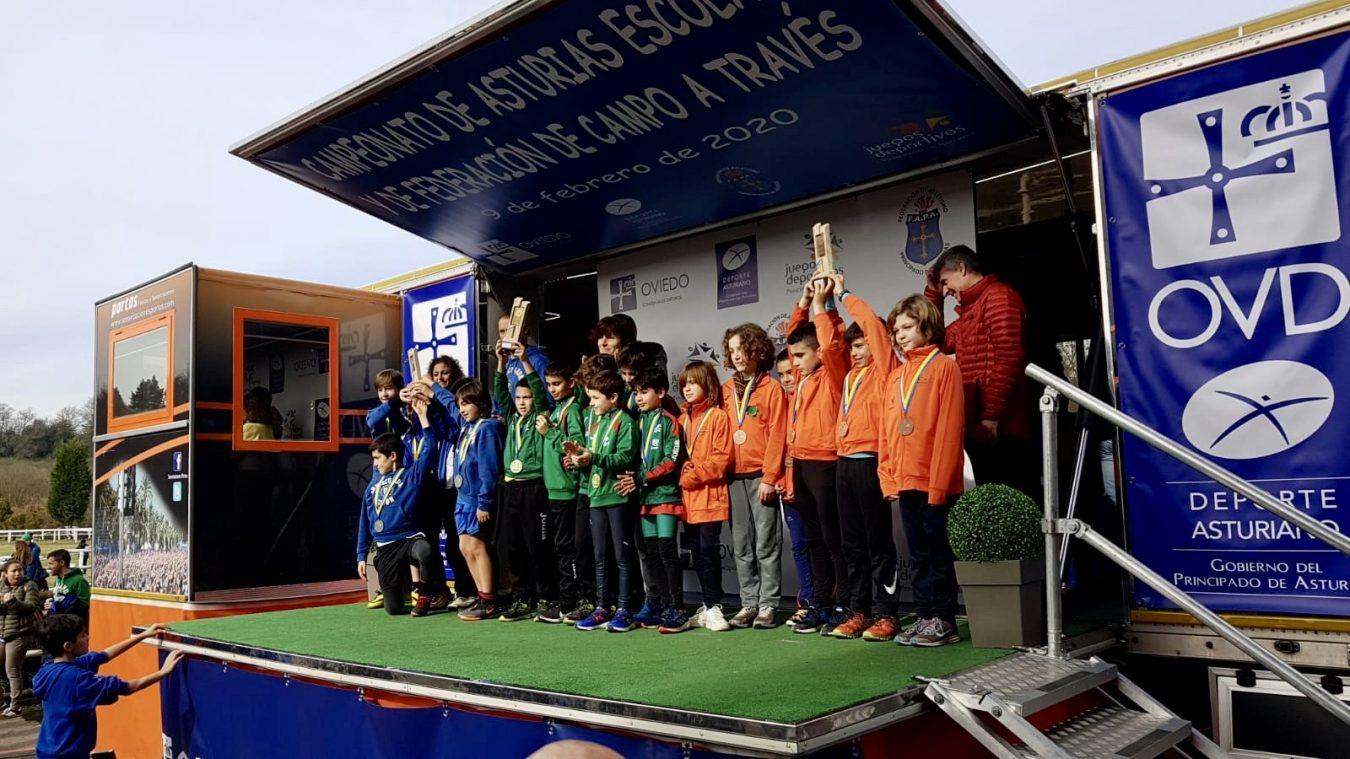 155 escolares del oriente participan en la final de atletismo de los Juegos Deportivos del Principado