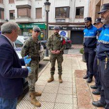 El Ejército de Tierra realiza labores de vigilancia en los concejos de Parres y Piloña