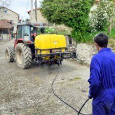 El miércoles comienza la segunda ronda de desinfección de calles y caminos en Llanes