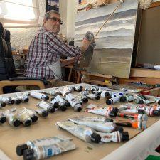 Pepe Zapico imagina desde su malagueño confinamiento, la Ribadesella que Regoyos nunca pintó
