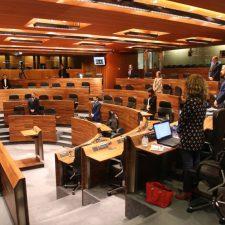 La JGPA reanuda su actividad parlamentaria con un minuto de silencio por las víctimas del coronavirus en Asturias