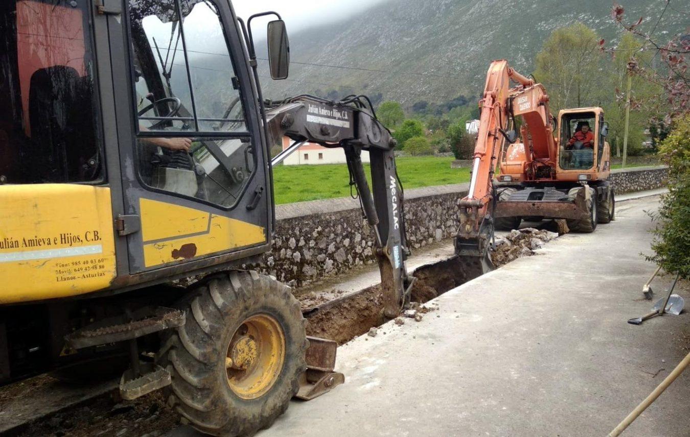 La mejora de un vial en Lledías, ralentizada por el coronavirus, avanza a buen ritmo
