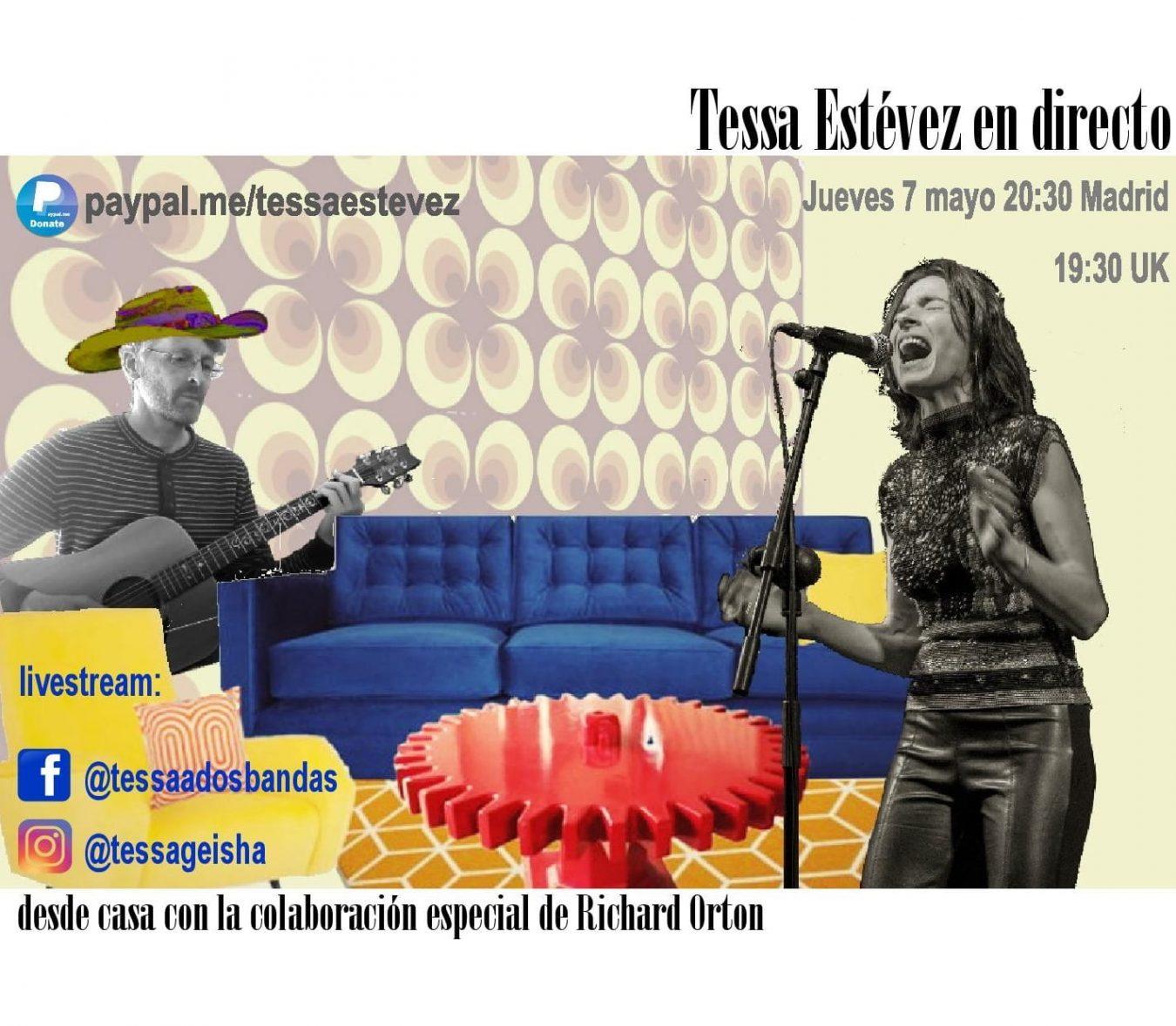 Concierto solidario de la cantante riosellana Tessa Estévez esta tarde en las redes sociales