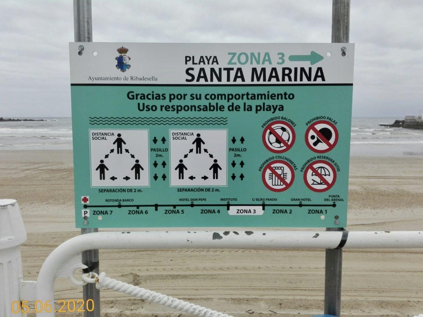 Este verano estará prohibido jugar a las palas y al balón en la playa de Ribadesella