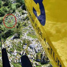 Rescatado un montañero de 70 años que sufrió una caída en el picu Mirueñu, en la Sierra del Sueve (Colunga)
