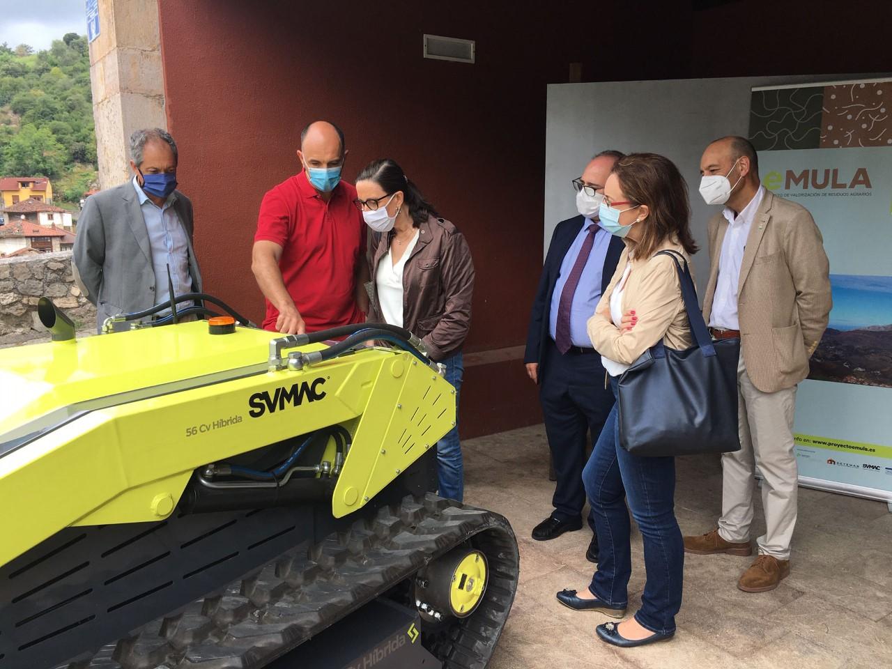 Un vehículo autónomo y experimental recogerá restos de matorral en Cabrales para elaborar compost