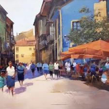 El sábado se celebra el Certamen de Pintura en la Calle de Ribadesella, el mas solidario de su historia