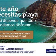 El Principado lanza una campaña estival para el uso responsable de las playas asturianas frente al coronavirus