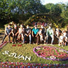 El Cuélebre de Meluerda arrasa en el concurso de enrame de fuentes de Ribadesella