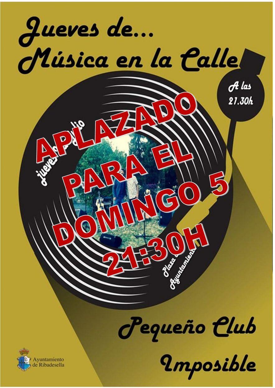 Ribadesella aplaza al domingo 5 de julio el primer concierto de Música en la Calle