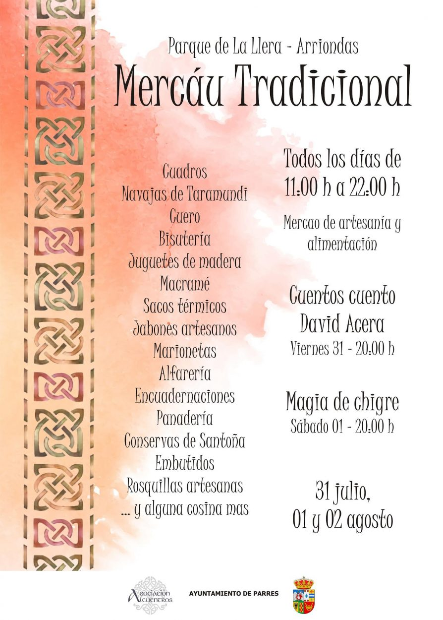 Arriondas acogerá esta semana un Mercáu Tradicional promovido por la Asociación de Artesanos Alcuentros