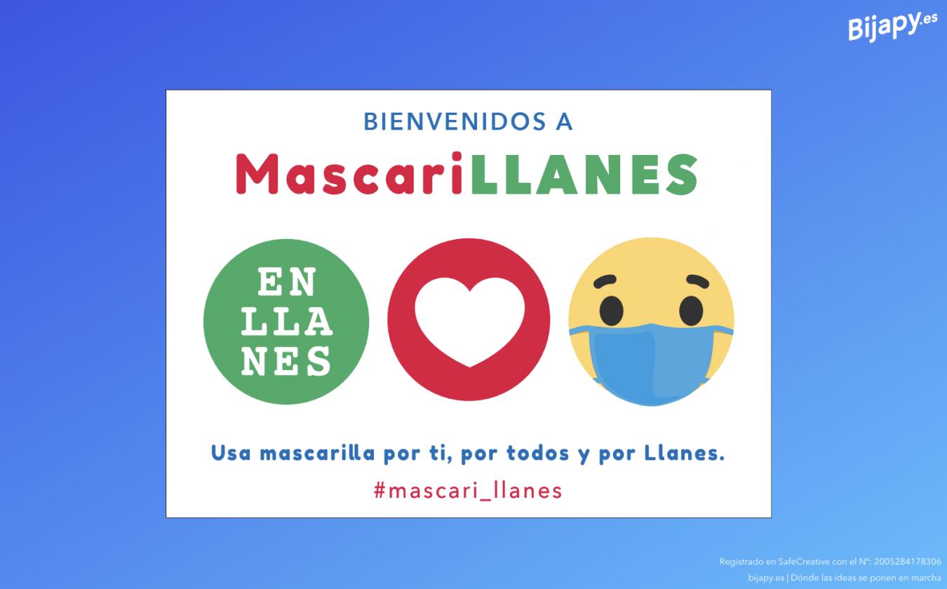 Llanes pone en marcha la campaña MascariLLANES para sensibilizar a la población sobre su uso