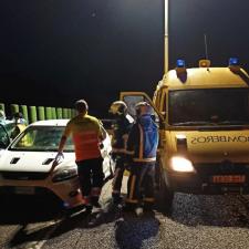 Un herido leve en el accidente ocurrido la pasada noche en la A-8 entre Ribadesella y Llanes