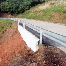El Principado concluye la reparación de un hundimiento en la carretera de Huexes a Fíos, en el concejo de Parres