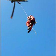 Rescatados un hombre y tres menores que se quedaron enriscados en el acantilado del pedral de Tereñes (Ribadesella)
