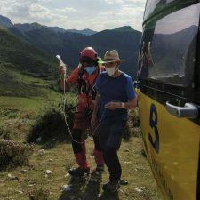 Rescatado un excursionista de 70 años que sufrió un golpe de calor en el Collado de Andrín (Parres)