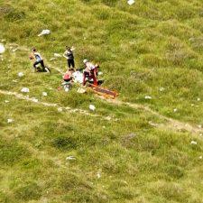 Rescatada una mujer que sufrió un golpe de calor en la canal de Fresnedal, en Sotres (Cabrales)