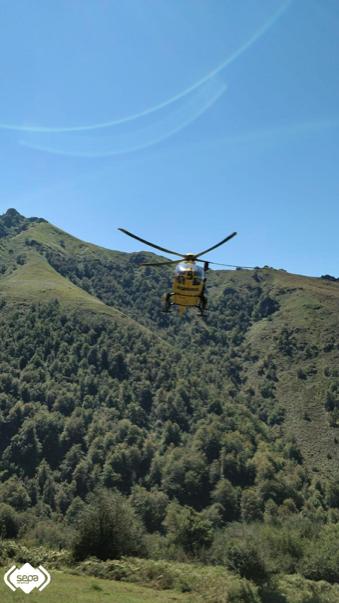 Rescatados dos excursionistas que se desorientaron en la ruta del Vízcares, concejo de Piloña