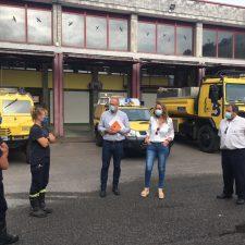 La Consejera de Presidencia, Rita Camblor, visita los parques de bomberos de Piloña, Cangas de Onís, Llanes y Villaviciosa
