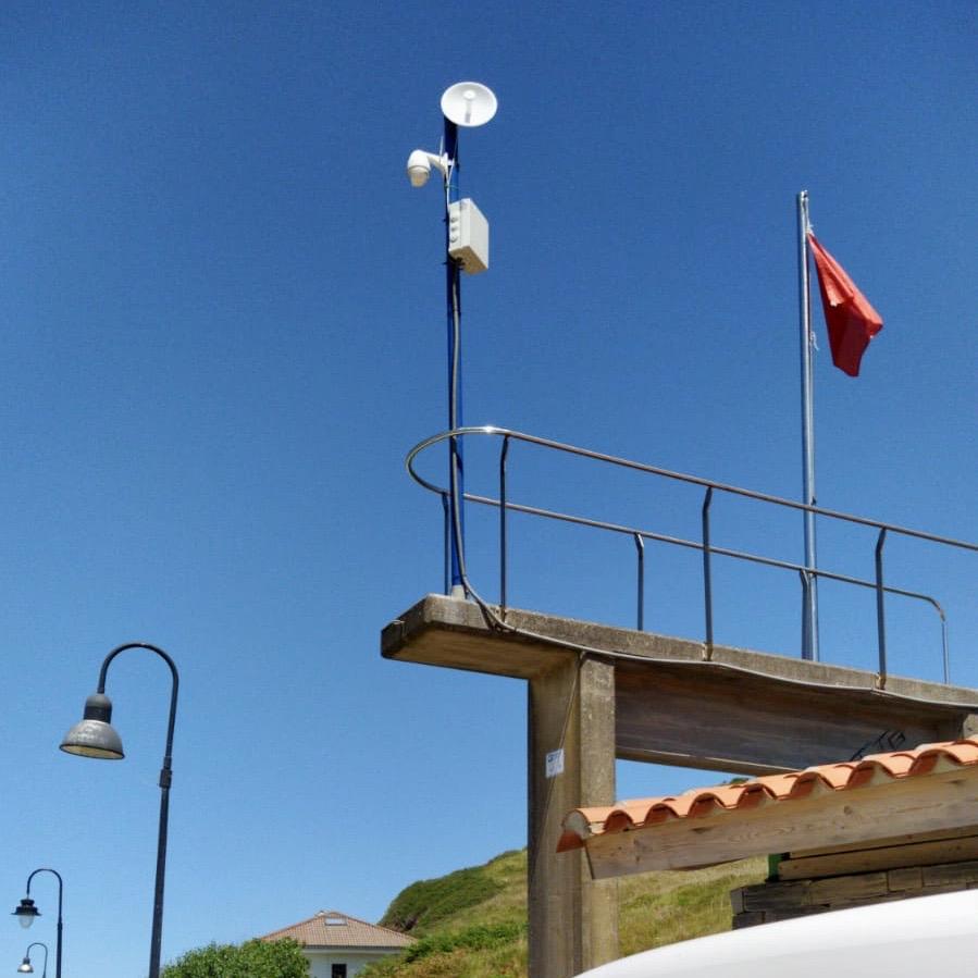 La playa de Vega ya dispone de webcam para visualizar el aforo del arenal riosellano