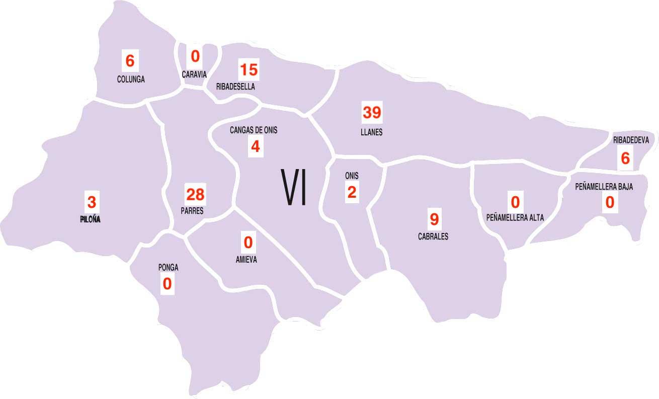 El Oriente de Asturias acumula 112 casos positivos en coronavirus durante la 2ª Ola de la pandemia