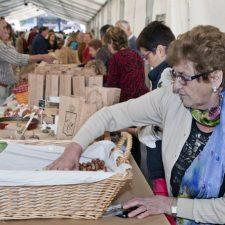 40 cosecheros pondrán a la venta mas de dos mil kilos de avellana en el Festival de Infiesto