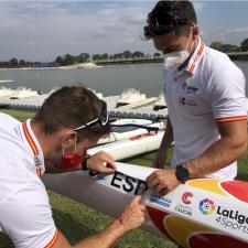 Pelayo Roza y Pedro Vázquez debutan mañana en la Copa del Mundo Canoe Sprint de Hungría