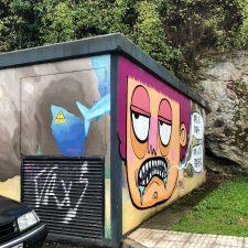 Lucía Linares agradece el toque de atención realizado sobre su mural de Ribadesella y pide a los graffiteros que respeten las obras ajenas