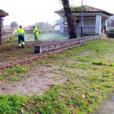 Hoy ha comenzado la renovación del alumbrado público del llanisco pueblo de Meré