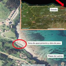 Costas recomienda cerrar el acceso al aparcamiento de la playa de Lastres debido a su deterioro