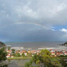 Espectacular arco iris desde el mirador de La Moría, Ribadesella
