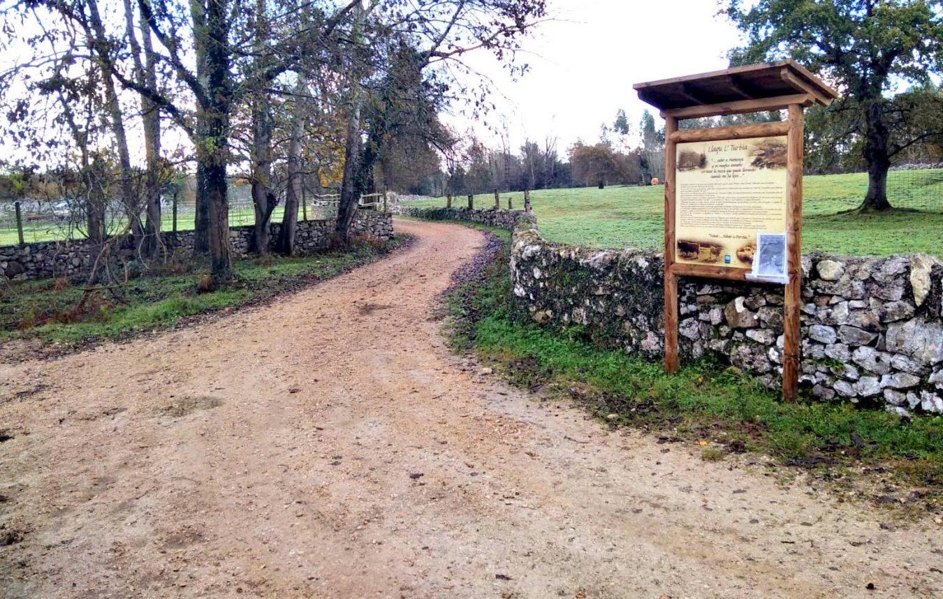 Concluye la mejora del camino de Carabascones que une Celoriu con La Tornería