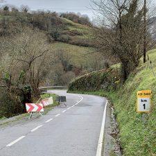 152.800 euros para reparar tres hundimientos en carreteras del oriente de Asturias