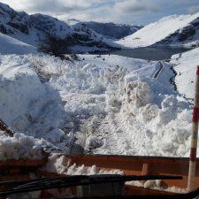Hoy quedaba abierta la carretera de Los Lagos después varias semanas cerrada por la acumulación de nieve